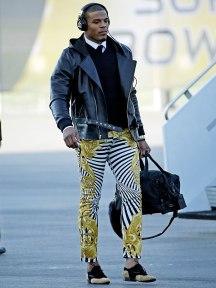 cam newton people magazine versace leggings