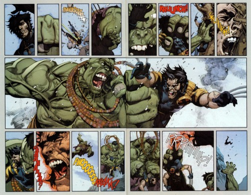 full two page wolvie vs hulk