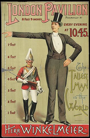 313px-Poster_advertising_the_tallest_man_in_the_world_Wellcome_L0063555